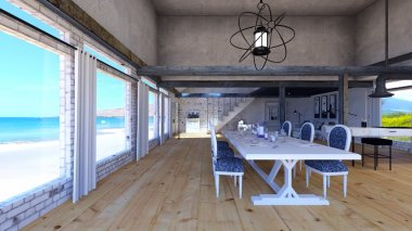 3D CG rendering of dining room