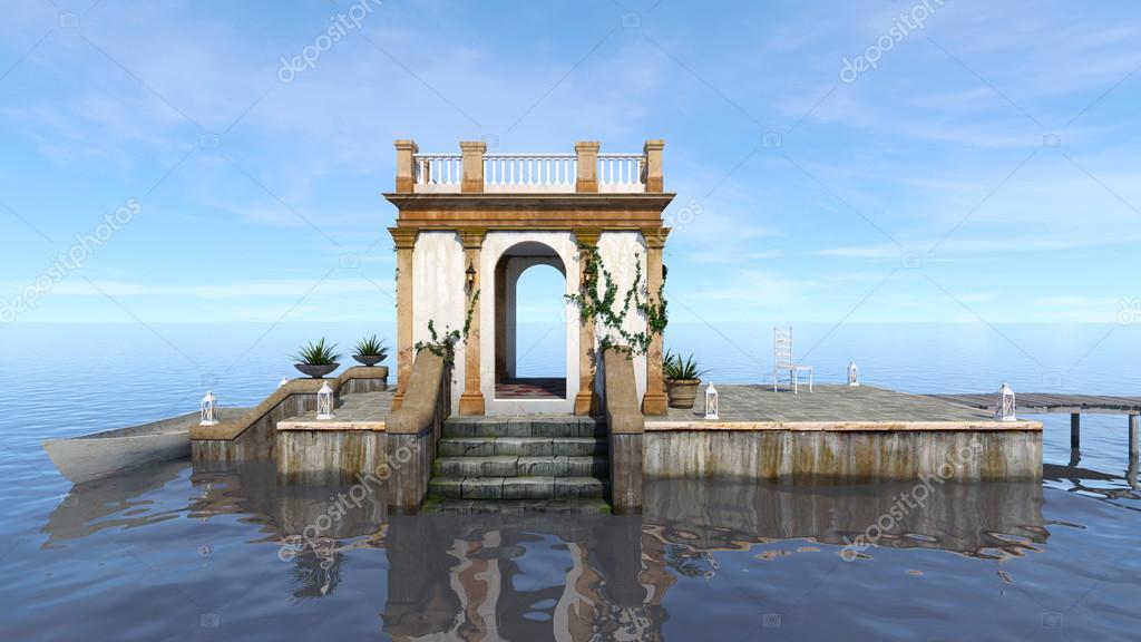 3D CG rendering of the pier