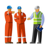 Fotografie Construction workers group and manager