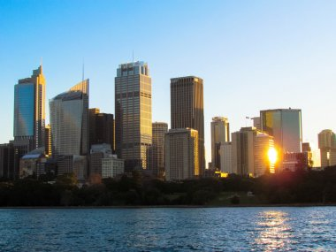 Sunset Sydney Skyline