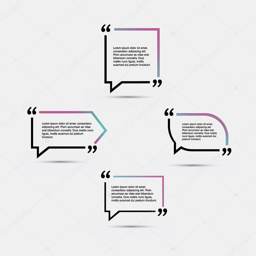 Leere Vorlage zu zitieren. Angebotsformular — Stockvektor ...