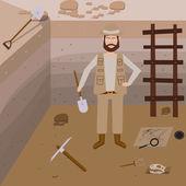 Fotografie Archeology vector illustrations.