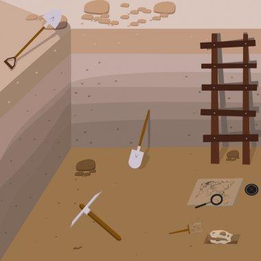 Archeology vector illustrations.