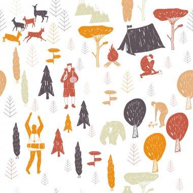 white camping pattern
