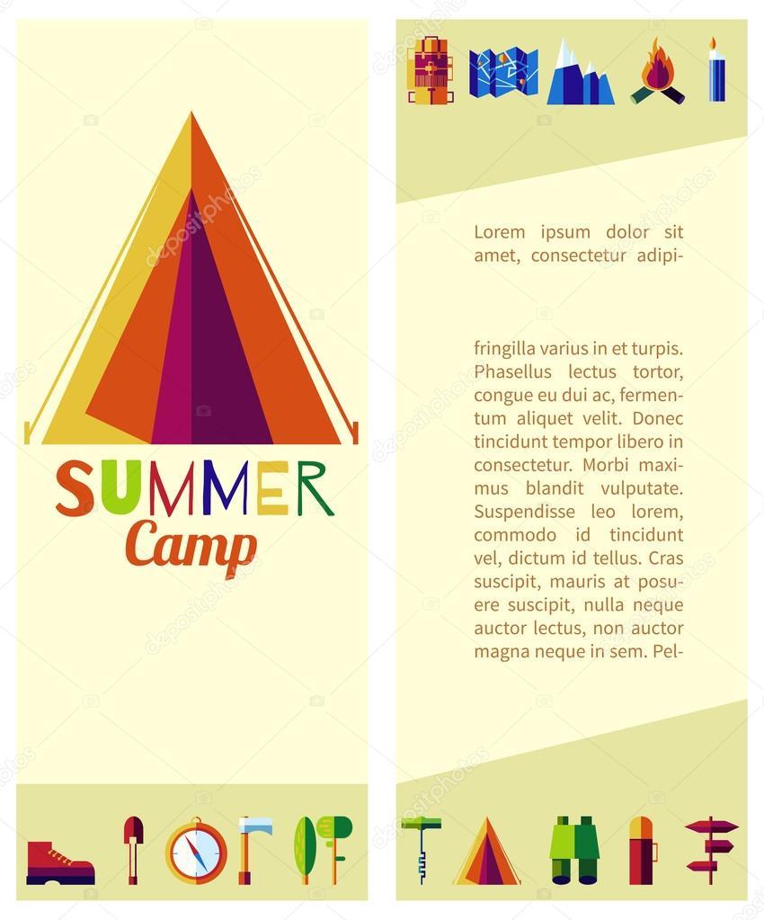 campamento de verano planas — Vector de stock © LittleAirplane ...