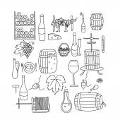 Fotografia linea di vini di Doodle