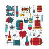Fotografia Doodle di colore del vino