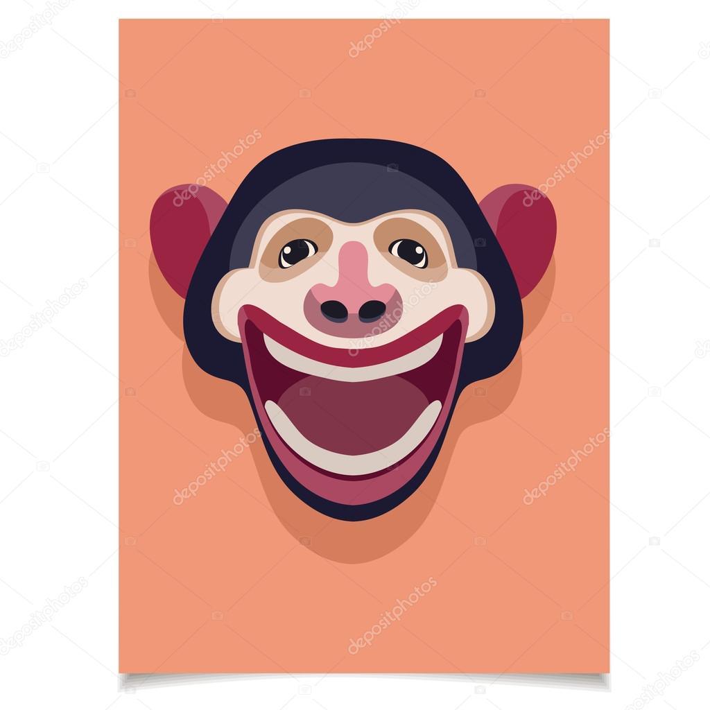 Monkey greeting card stock vector littleairplane 92952900 monkey greeting card stock vector m4hsunfo