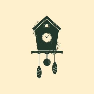 Cuckoo clock, with grunge texture