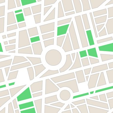 Minimal city map for GPS