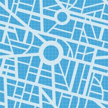 City map blueprint.