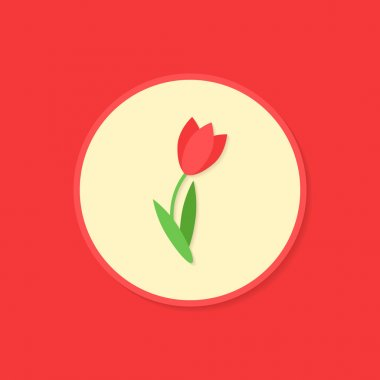 Circle icon with tulip.