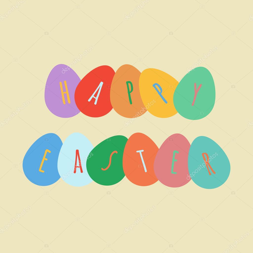 Happy Easter Greeting Card Stock Vector Alexanderdobrikov 68246237