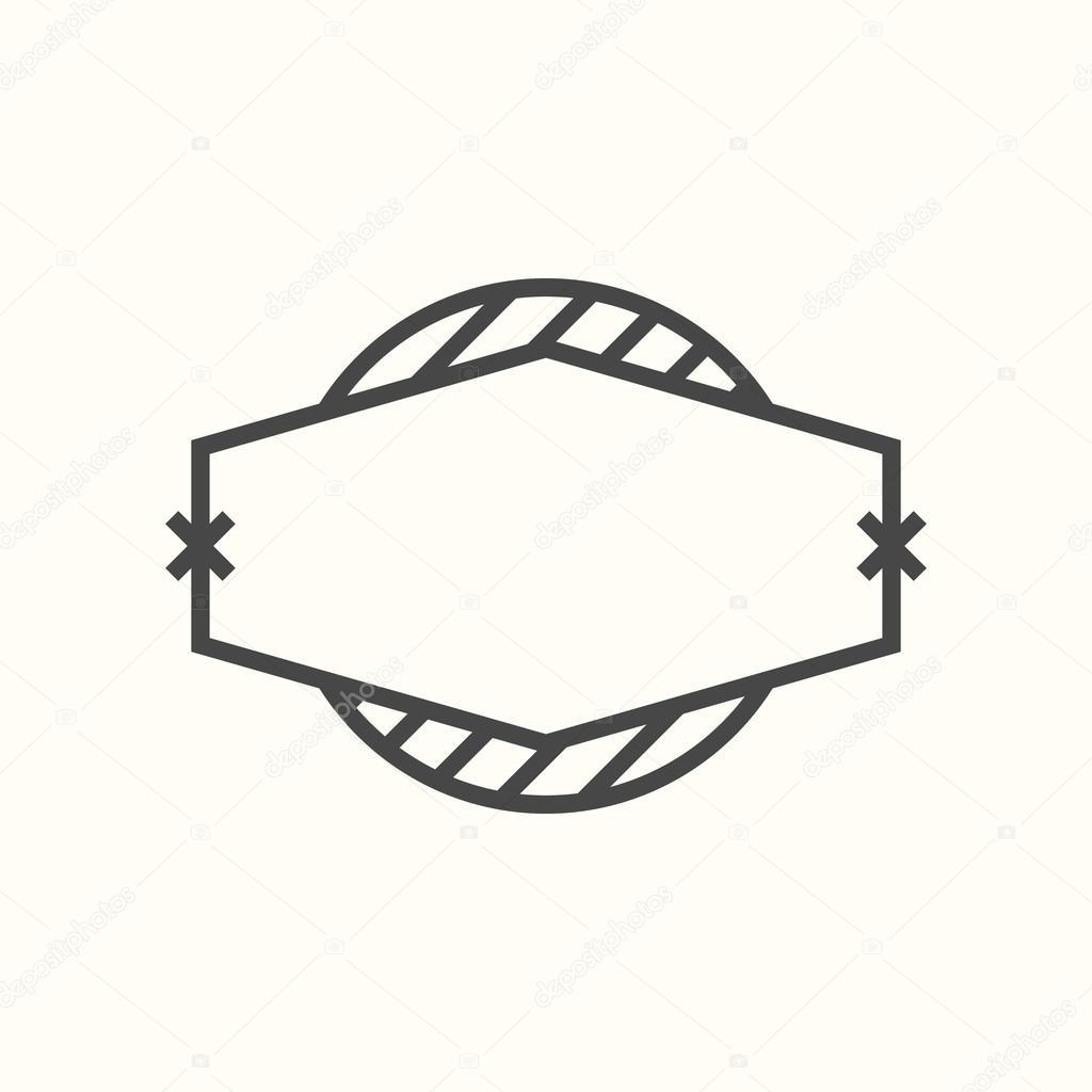 Template For Hipster Logo Stock Vector Alexanderdobrikov 68246291