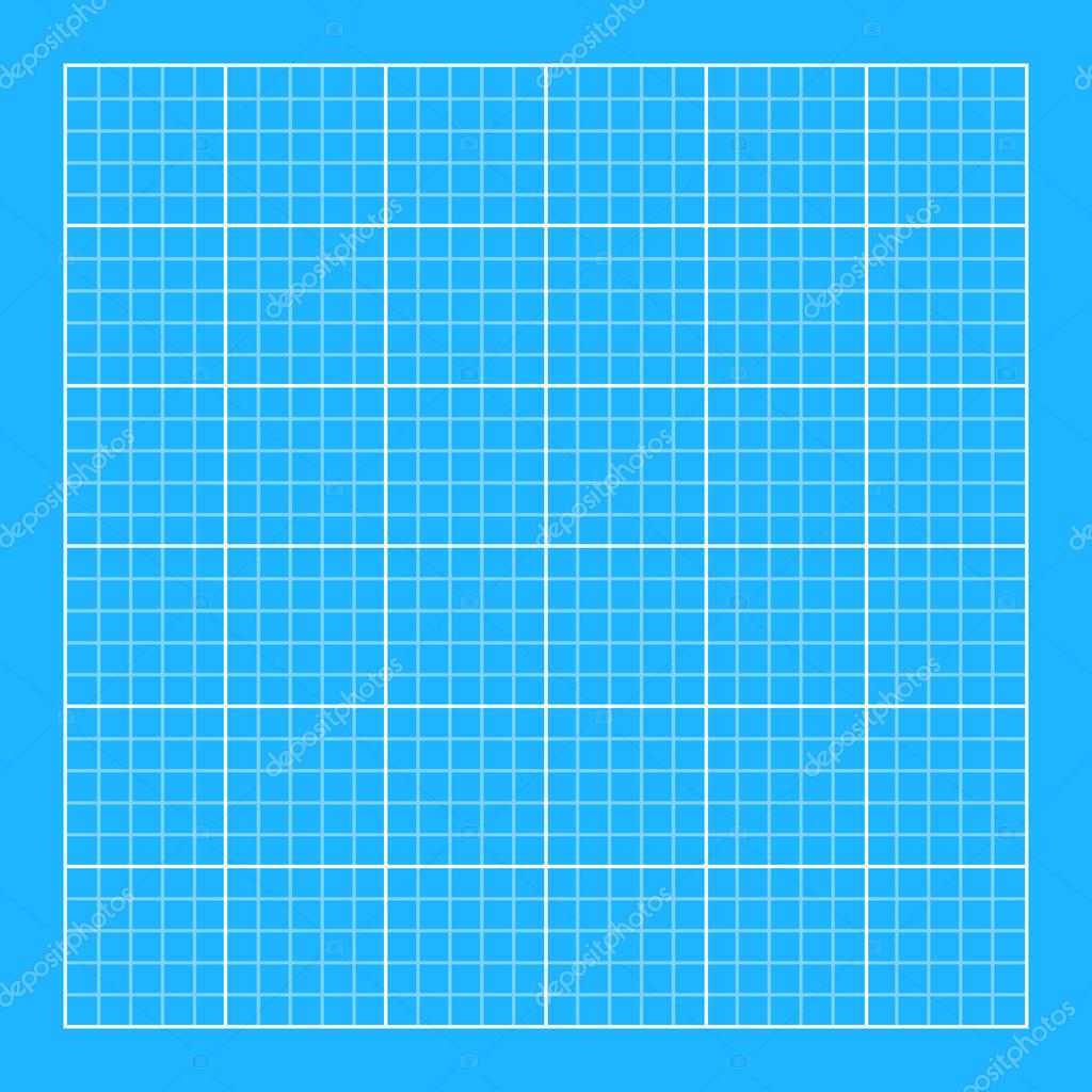 Blueprint background with white grid stock vector blueprint background classic style flat color white grid with blue background technical backdrop vector illustration vector by alexanderdobrikov malvernweather Gallery
