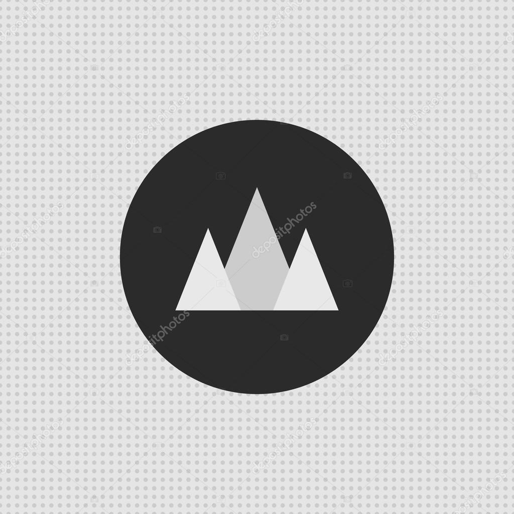 Simple mountain logo