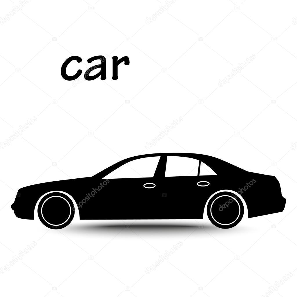 Car Luxury Sedan Silhouette Stock Vector C Chel11 100128952
