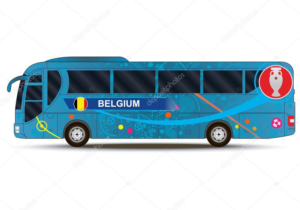 957d198cb43 European Championship 2016. Belgium team. Bus — Stock Vector ...