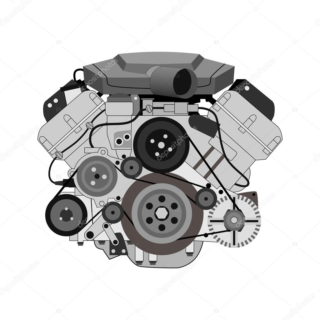car engine vector illustration — Stock Vector © chel11 #122418728