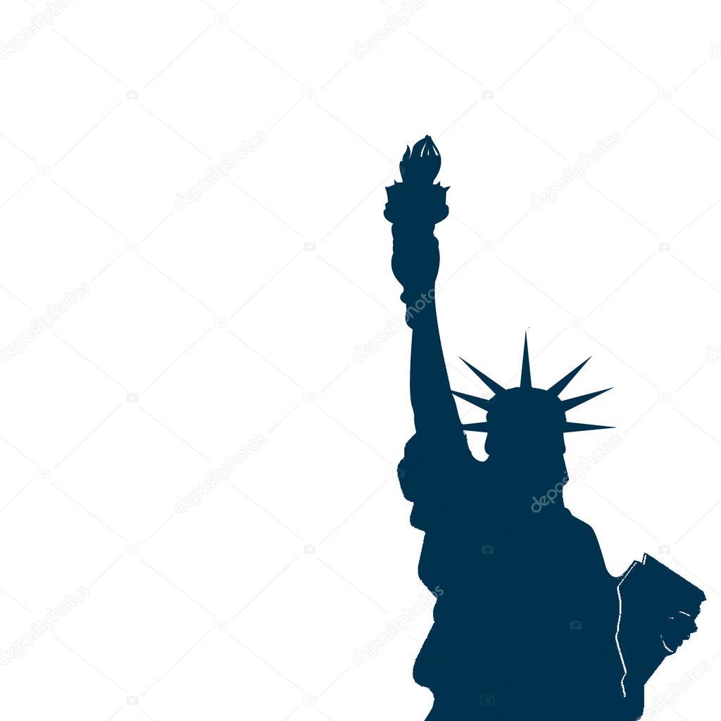 vektör çizim Özgürlük heykeli — Stok Vektör © caps_lock ...