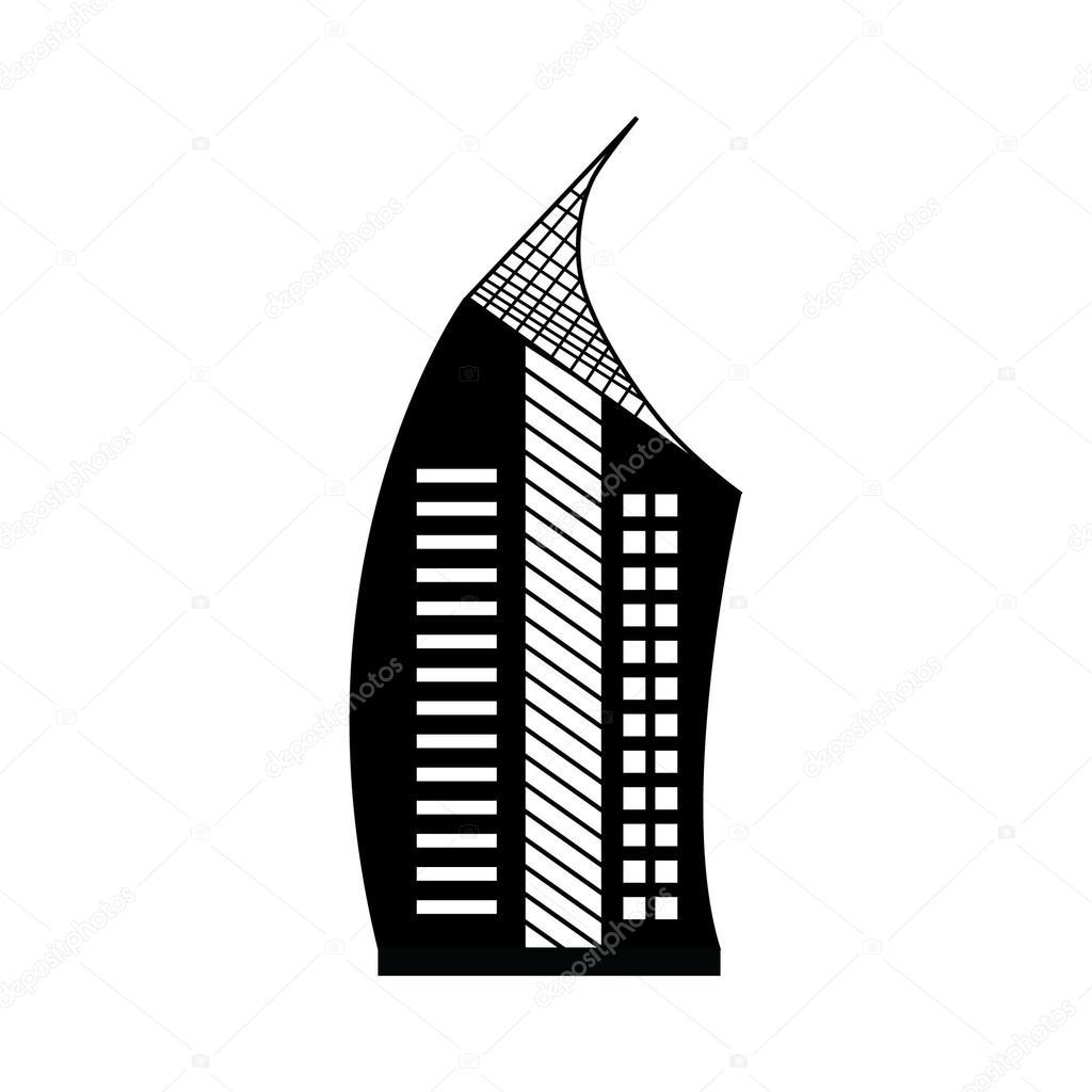 Edificio, vector de rascacielos — Vector de stock © WSino #119417272