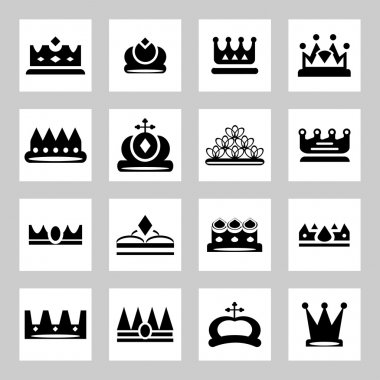 Crowns - icons and silhouettes