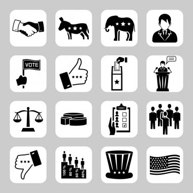 Election and voting vector icon set