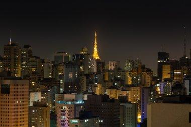 Sao Paulo at night, Brazil