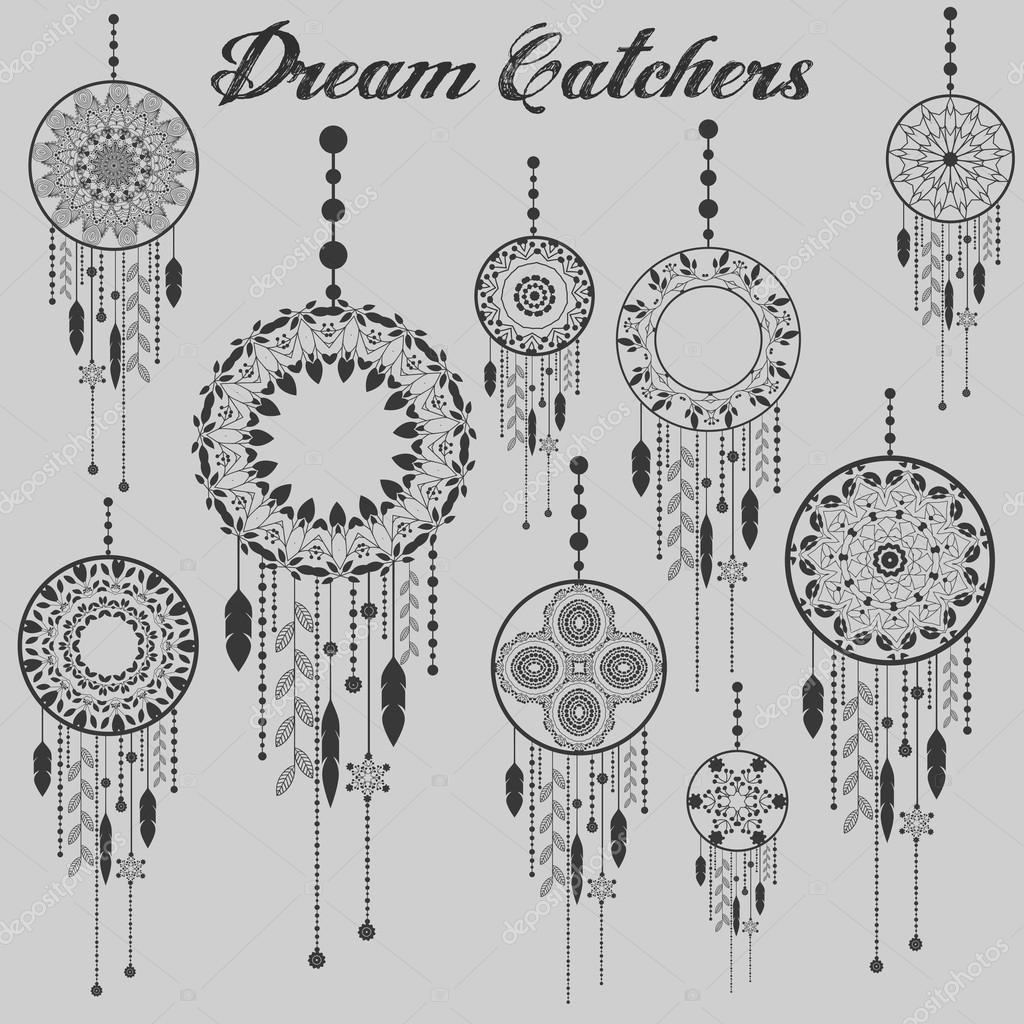 Dream catcher dreamcatcher aztec feather tribal vector patterned dream catcher dreamcatcher aztec feather tribal vector patterned set with decoration native american illustration biocorpaavc Gallery