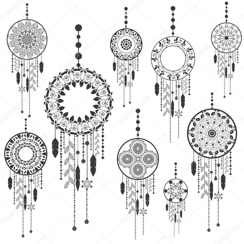 Dream catcher dreamcatcher aztec feather tribal vector patterned dream catcher dreamcatcher aztec feather tribal vector patterned set with decoration native american illustration isolated biocorpaavc Gallery