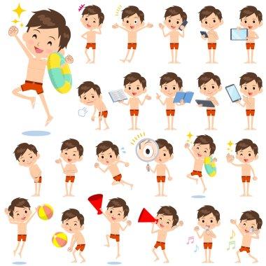 school boy sport Swimwear style 2