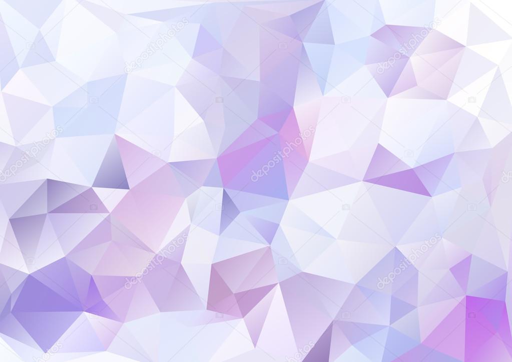 Cubismo Fondo Blanco Y Morado