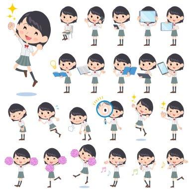 schoolgirl White shortsleeved shirt 2