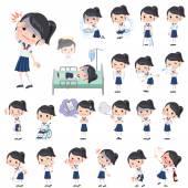 školačka shortsleeved tričko Sailor barvy o nemoci