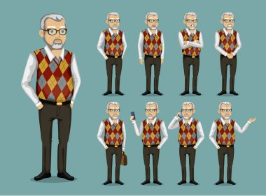 grandfather in business clothes