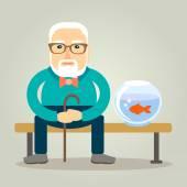 Fotografie Opa und seine Goldfische