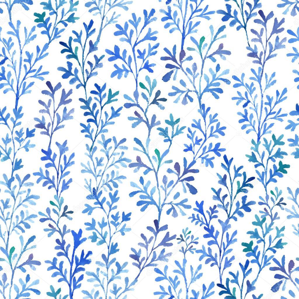 Watercolor blue flor