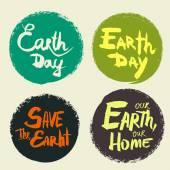 Fényképek Állítsa be a betűk a föld napja