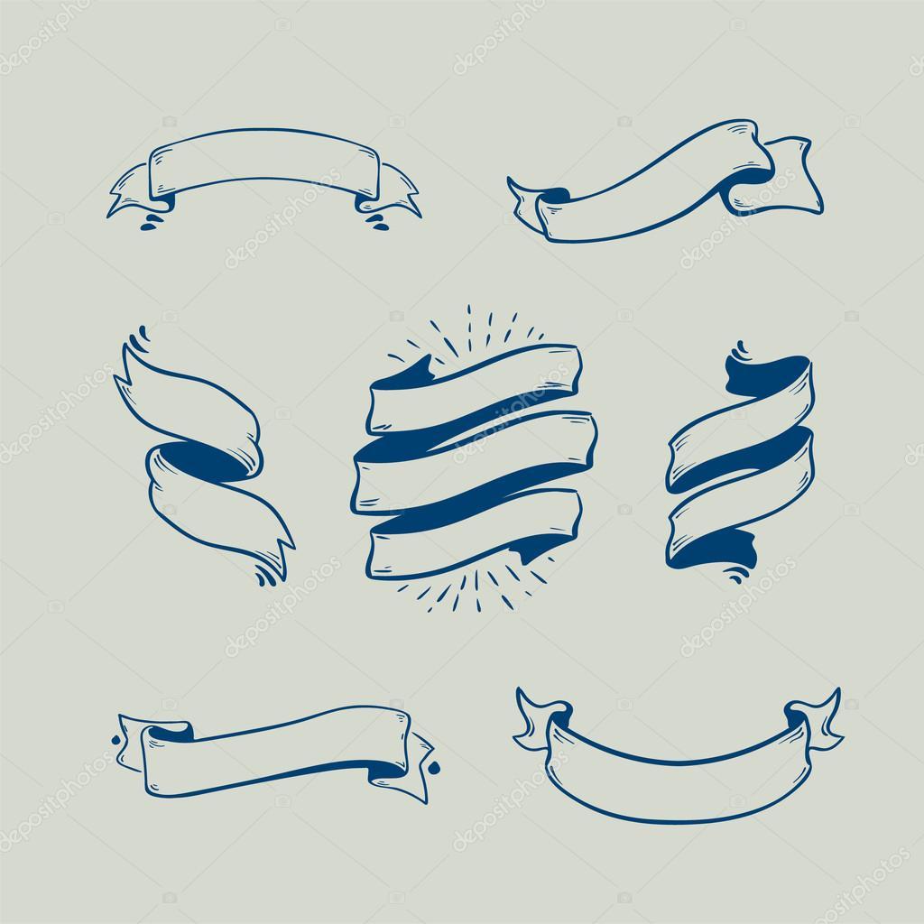 Ribbon vector set
