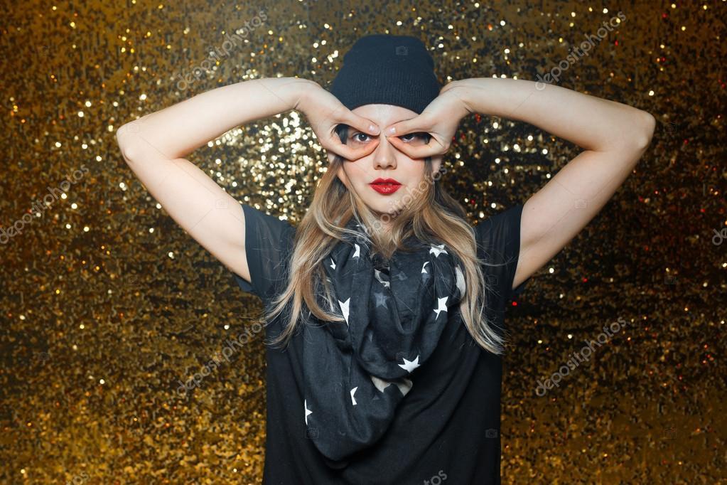 Oro Donne — Fondo Foto Notturni Divertimento Di Nero Su Vestite x1CqP4