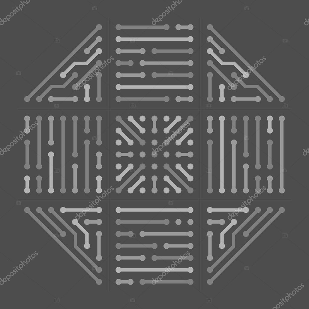 Circuit Board Background Octa Black Stock Vector Mat S 77424046