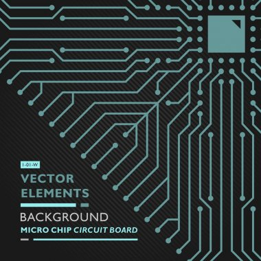 Circuit board conceptual vector decor one