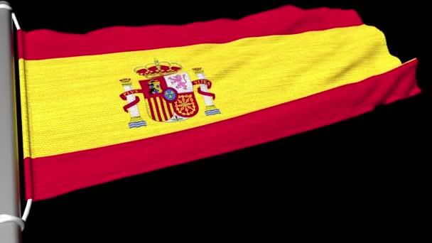 Spanyolország zászlaja lobogott a szél állandó áramlatában..