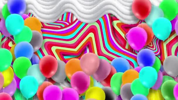 Sok lufi, színes, ingadozik a szél erejétől.