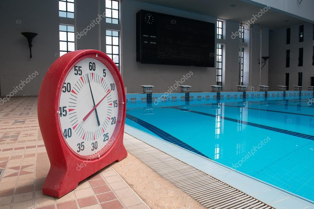 Timer clock in a swimming pool — Stock Photo © oatjo #67759881