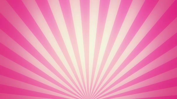 Retro radial background, pink tint. Seamless loop.