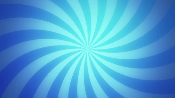 Retro radiální pozadí, modrý odstín. Bezešvá smyčka.