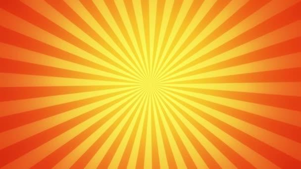 Retro radiální pozadí, zlatý odstín. Bezešvá smyčka.
