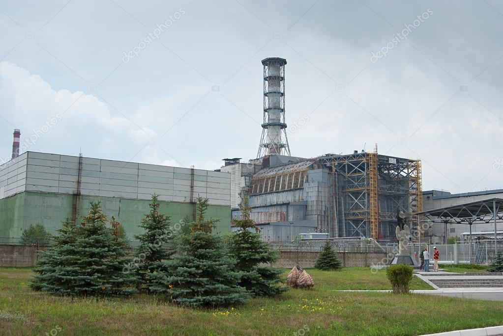 Sarcophagus of the fourth unit of the Chernobyl nuclear