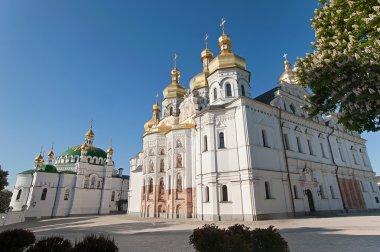 Blooming chestnut. Cathedral of the Kiev-Pechersk Lavra. Kiev. U